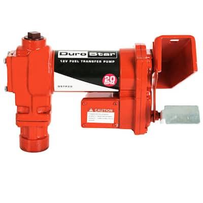 12-Volt 1/4 HP 20 GPM Fuel Transfer Pump