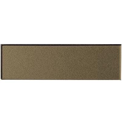 Forever Bronze Field 4 in. x 16 in. Glossy Metallic Glass Wall Tile (9-Pack)