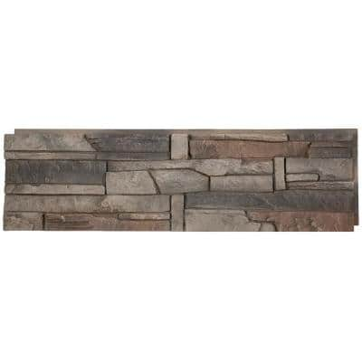 Stacked Stone Kenai 12 in. x 42 in. Faux Stone Siding Panel