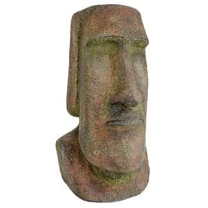 16.5 in. H Easter Island Ahu Akivi Moai Monolith Medium Garden Statue