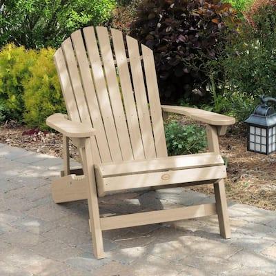 King Hamilton Tuscan Taupe Folding and Reclining Plastic Adirondack Chair