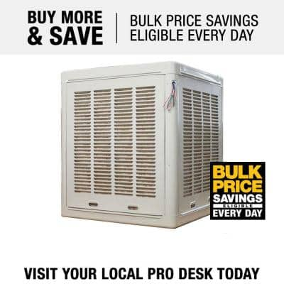 3,800 CFM 115V 2-Speed Down-Draft Aspen Roof/Side Evaporative Cooler for 13 in. Ducts 1,100 sq. ft. (Motor not Included)
