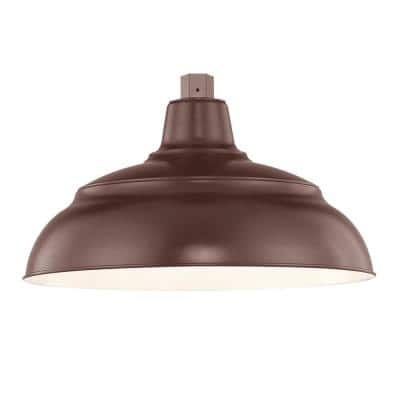 R Series 1-Light 15 in. Architect Bronze Warehouse Shade