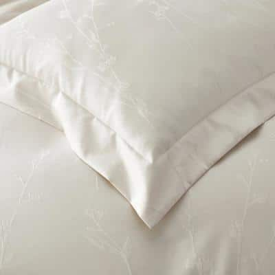 Legends Luxury™ Jacquard Floral Oversized Supima Wrinkle-Free Cotton Duvet Cover