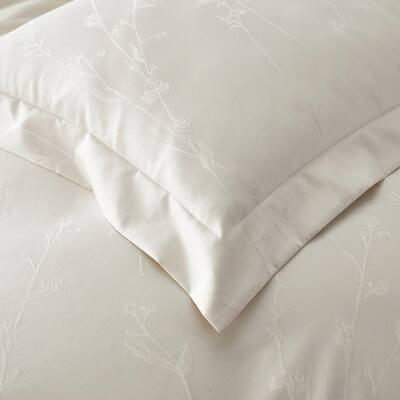 Legends Luxury™ Jacquard Floral Oversized Supima Wrinkle-Free Cotton Duvet Cover