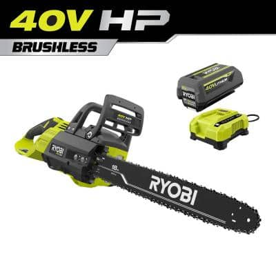 40V HP Brushless 18 in. Cordless Battery Chainsaw with 5.0 Ah Battery and Charger