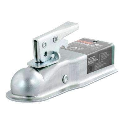 """1-7/8"""" Straight-Tongue Coupler with Posi-Lock (2-1/2"""" Channel, 2,000 lbs., Zinc)"""