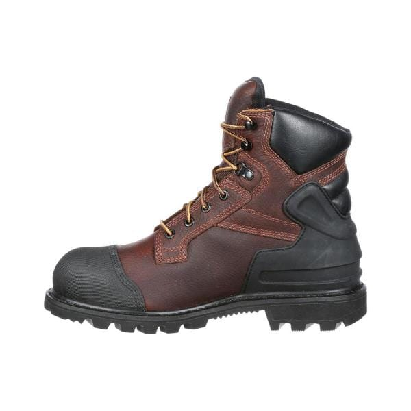 Carhartt Men S Waterproof 6 Work Boots Steel Toe Brown Size 12 W Cmr6859 12w The Home Depot