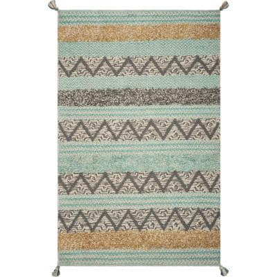 Turquoise Hermosa Beach 6 ft. x 9 ft. Area Rug