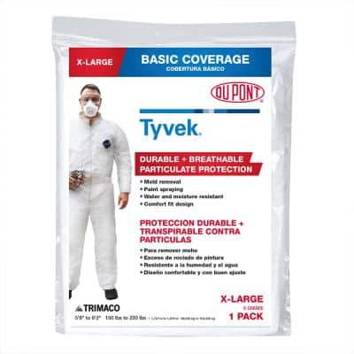 DuPont Tyvek XL No Elastic Disposable Coverall