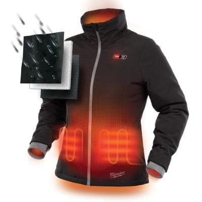Women's M12 12-Volt Lithium-Ion Cordless Heated Jacket Kit with (1) 2.0Ah Battery and Charger