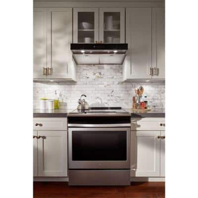 30 in. Under Cabinet Range Hood in Stainless Steel with Boost Function