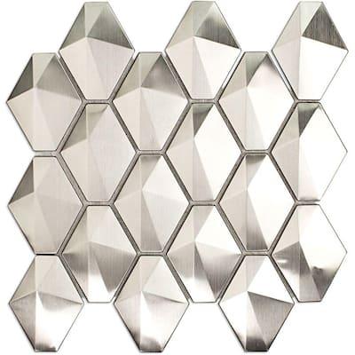 Corrie Sierra 10.63 in. x 11.14 in. x 8 mm Polished Metal Mosaic Tile