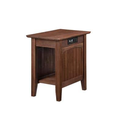 Nantucket Burnt Amber Chair Side Table with Charger