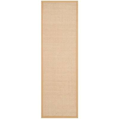 Natural Fiber Tan/Beige 2 ft. 6 in. x 8 ft. Indoor Runner Rug