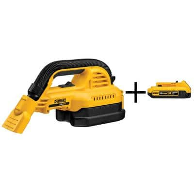 20-Volt MAX Lithium-Ion 1/2 Gal. Wet/Dry Portable Vacuum (Tool-Only) with 2Ah Battery