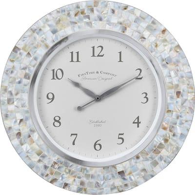Vivien Ivory Pearl Mosaic Clock