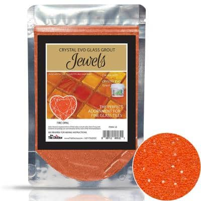 Crystal Glass Grout Jewels Fire Opal 75 grams (1-Pack)