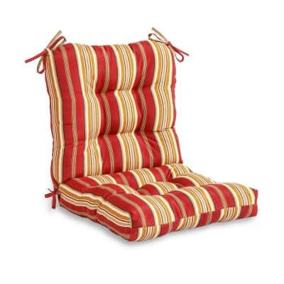 Roma Stripe Outdoor Dining Chair Cushion