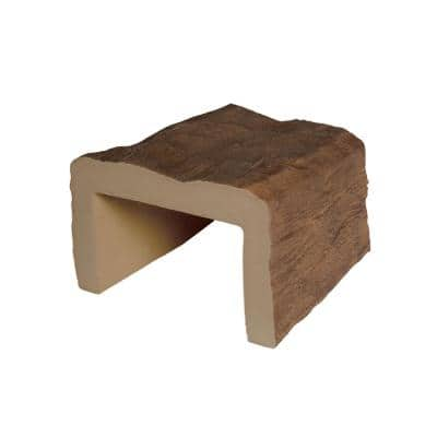 5-1/8 in. x 8 in. x 6 in. Long Medium Oak Hand Hewn Faux Wood Beam Sample