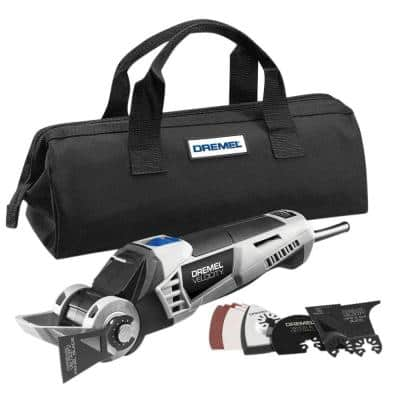 Velocity 7 Amp Variable Speed Corded 2-Position Oscillating Multi-Tool Kit for Plywood, Drywall, PVC Pipe, Wood & Tile