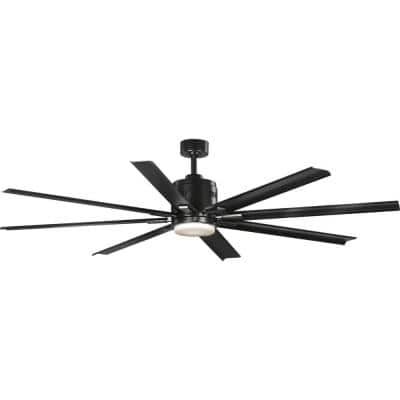 Vast  72 in. 18-Watt LED Black 8-Blade Ceiling Fan with Light