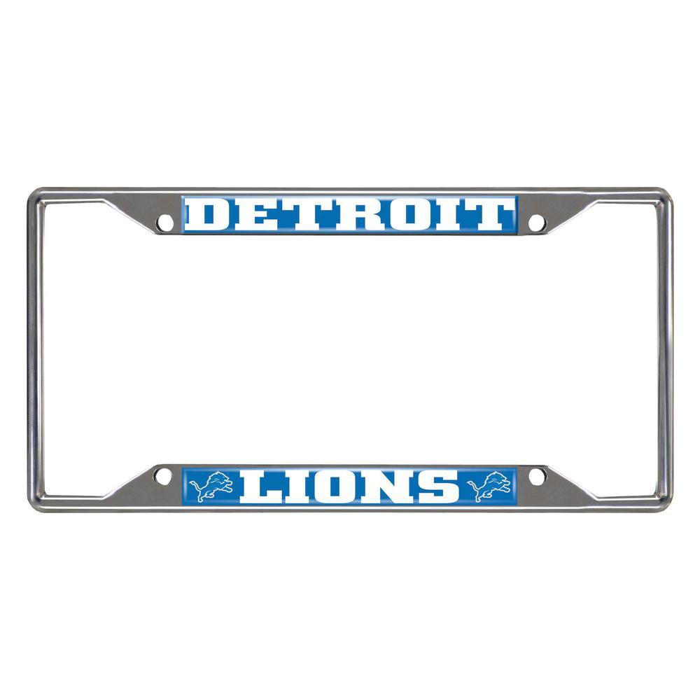NFL - Detroit Lions Chromed Stainless Steel License Plate Frame