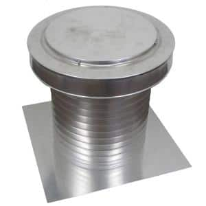 12 in. Dia Keepa Vent an Aluminum Roof Vent for Flat Roofs