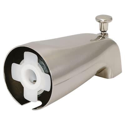 Slide-On Diverter Spout, Brushed Nickel