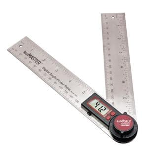 AccuMASTER Digital 7 in. Angle Finder Protractor and Ruler