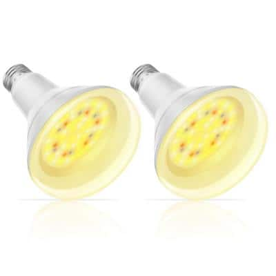 100-Watt Equivalent E26 BR30 Medium Base Indoor and Outdoor Full Spectrum Plant Grow LED Light Bulb (2-Pack)