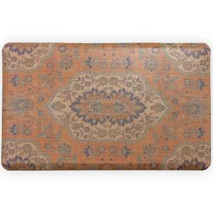 Orange Persepolis 32 in. x 20 in. Anti-Fatigue Comfort Mat