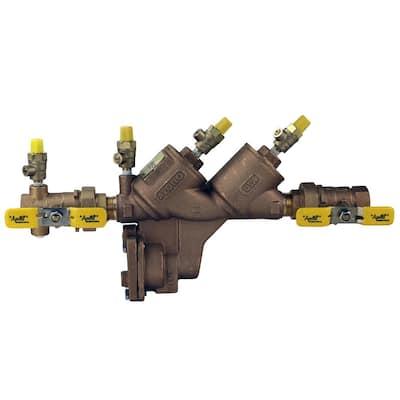 3/4 in. Bronze FIP Reduced Pressure Backflow Preventer with Union Shut-Off Valves