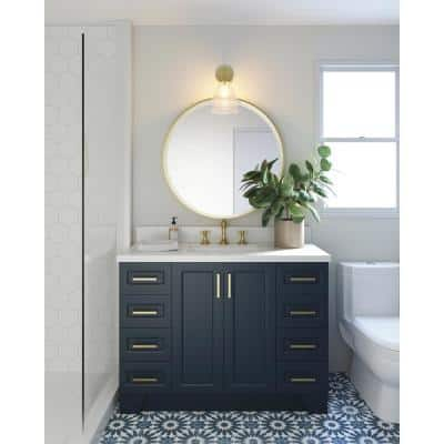 Taylor 48 in. W Vanity Cabinet Only in Midnight Blue