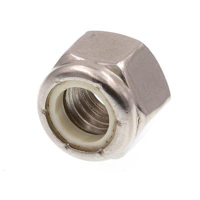 1/2 in.-13 Grade 18-8 Stainless Steel Nylon Insert Lock Nuts 5-Pack)