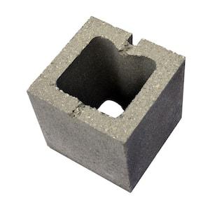 8 in. x 8 in. x 8 in. Concrete Baby O Half Block