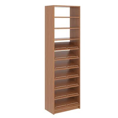 14 in. W D x 25.375 in. W x 84 in. H Amber Shoe Storage Tower Wood Closet System