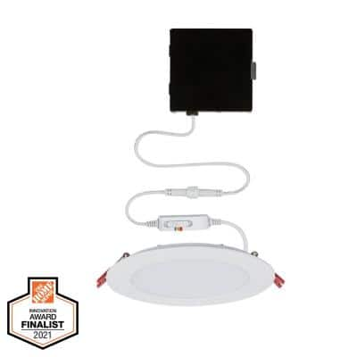 Ultra Slim High Lumen 6 in. Selectable CCT New Construction and Remodel Integrated LED Recessed Lighting Kit
