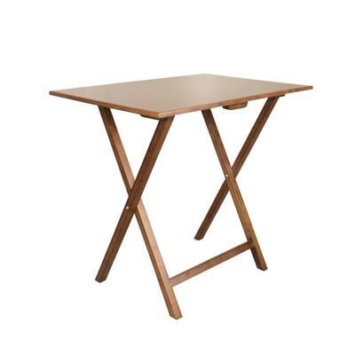 32 in. W Solid Bamboo Brunette Folding Desk