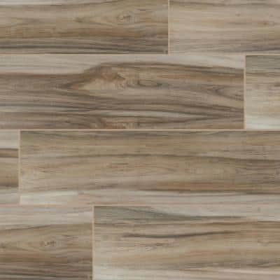 Ansley Amber 8 in. x 24 in. Matte Ceramic Floor and Wall Tile (12.16 sq. ft./case)