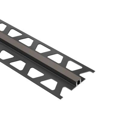 Dilex-BWB Dark Anthracite 3/8 in. x 8 ft. 2-1/2 in. PVC Movement Joint Tile Edge Trim