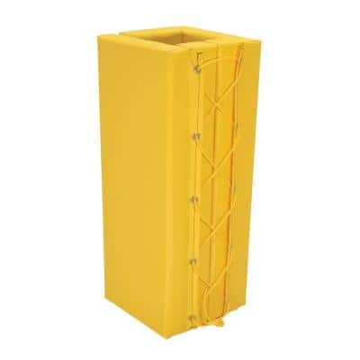 3 ft. 11 in. Yellow Square Column Protective Pad
