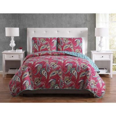 Mhf Home Avery Paisley Twin Quilt Set