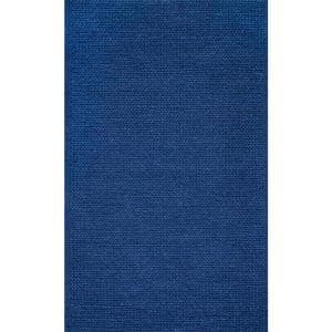 Caryatid Chunky Woolen Cable Navy 6 ft. x 9 ft. Area Rug
