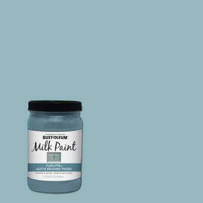1 qt. Brush-On Craft Milk Paint, Highland Blue