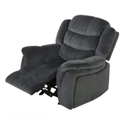 Hawthorne 39 in. Width Big and Tall Gray Polyester 3 Position Recliner