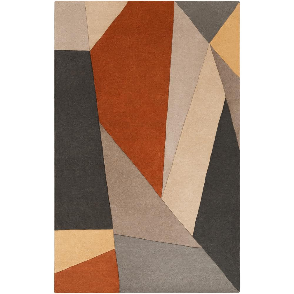 Artistic Weavers Skadi Burnt Orange 6 Ft X 9 Ft Abstract Area Rug S00161012933 The Home Depot