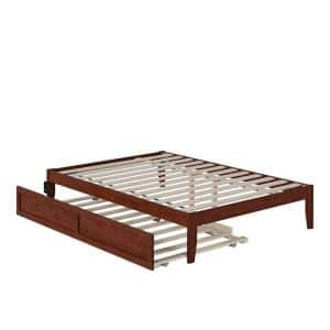 Colorado Walnut Full Bed with USB Turbo Charger and Twin Trundle
