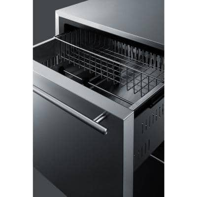 3.5 cu. ft. Upright Freezer in Stainless Steel, Drawer Style