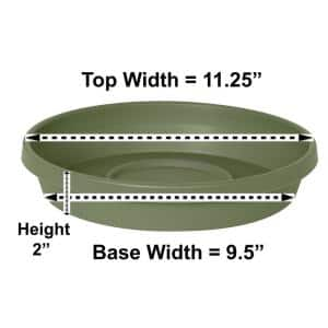 Terra 11.25 in. Living Green Plastic Plant Saucer Tray